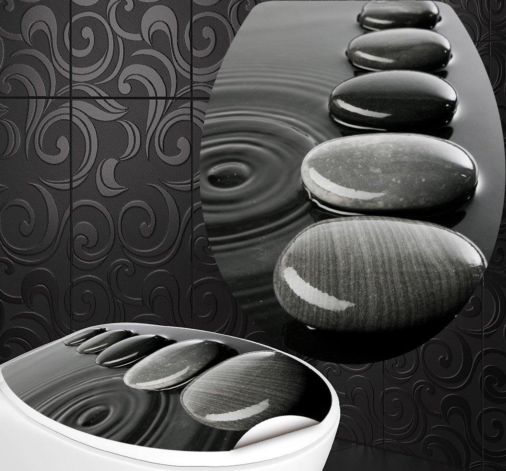 StickerProfis 'Sedile WC adesivi Zen Pietre design Schermo parete per WC stanza incl. 2adesivi per piastrelle