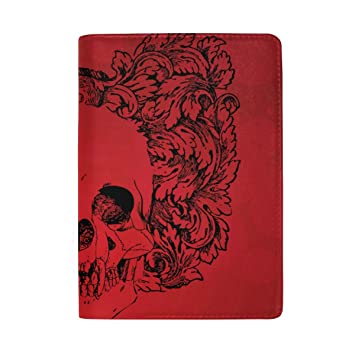LEISISI Cool Man Genuine Real Leather Passport Holder Cover Travel Case