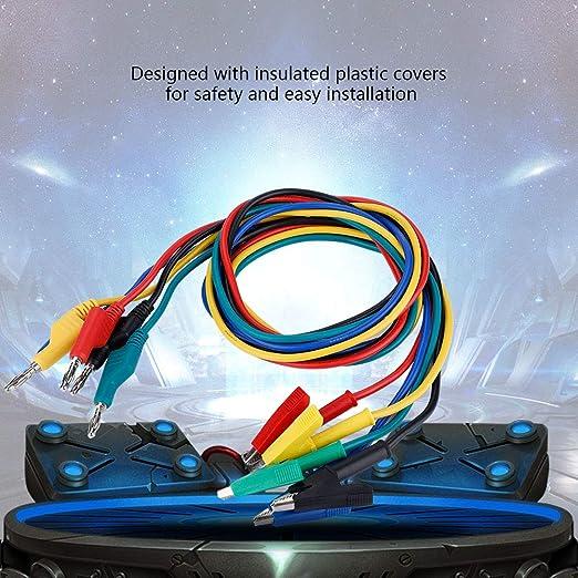 Akozon Cable de Banana plug y pinza de cocodrilo DC corriente regulada l/ínea de salida 30V 5A