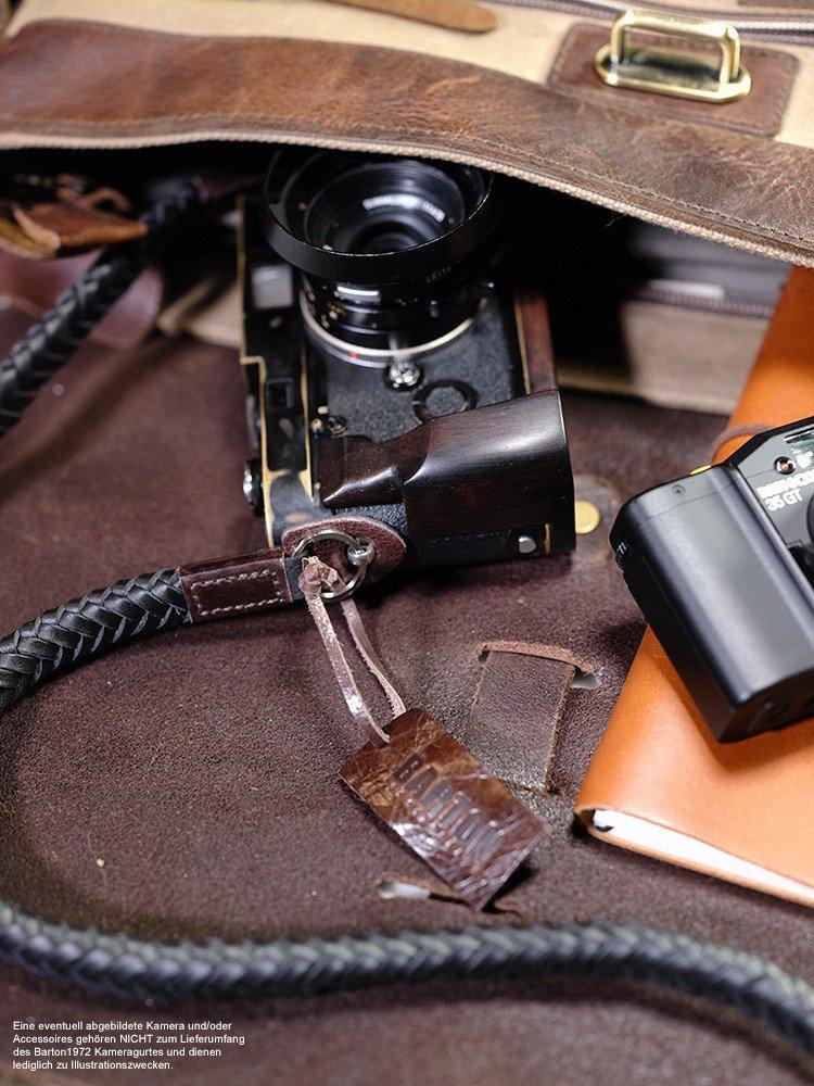 Barton 1972 | JIANYING correa de cámara de piel trenzada | Original cámara hombro Correa The Vector Classic La Foto Design Studio Annie Barton | correa: ...