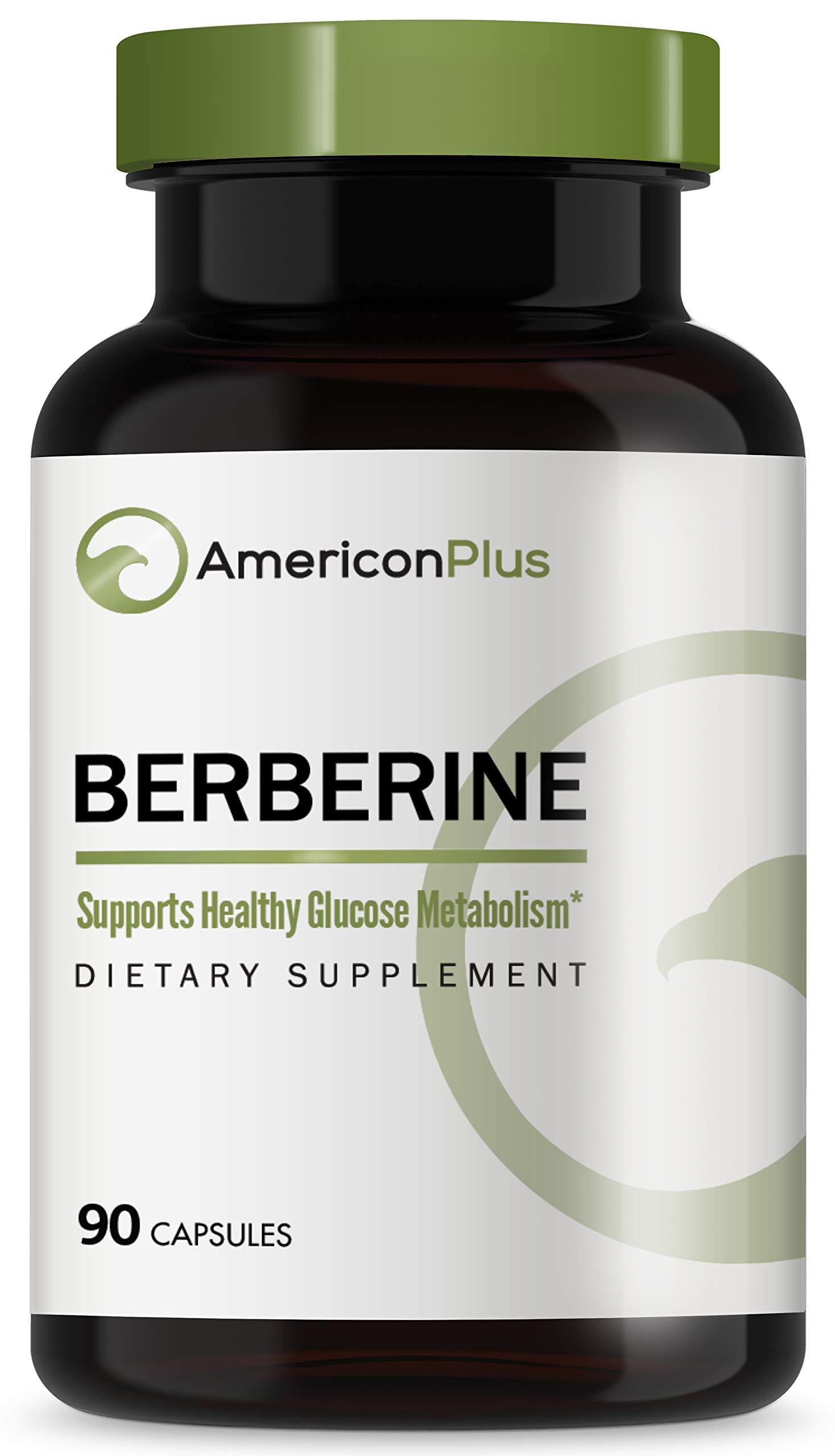 Berberine 500mg | Powerful, Natural Blood Sugar Support | Amazon Certified | Berberine HCl 90 Veg Caps