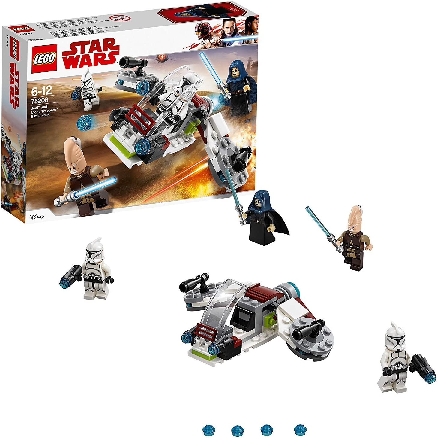LEGO Star Wars - Pack de combate: Jedi y Soldados Clon, Juguete de ...