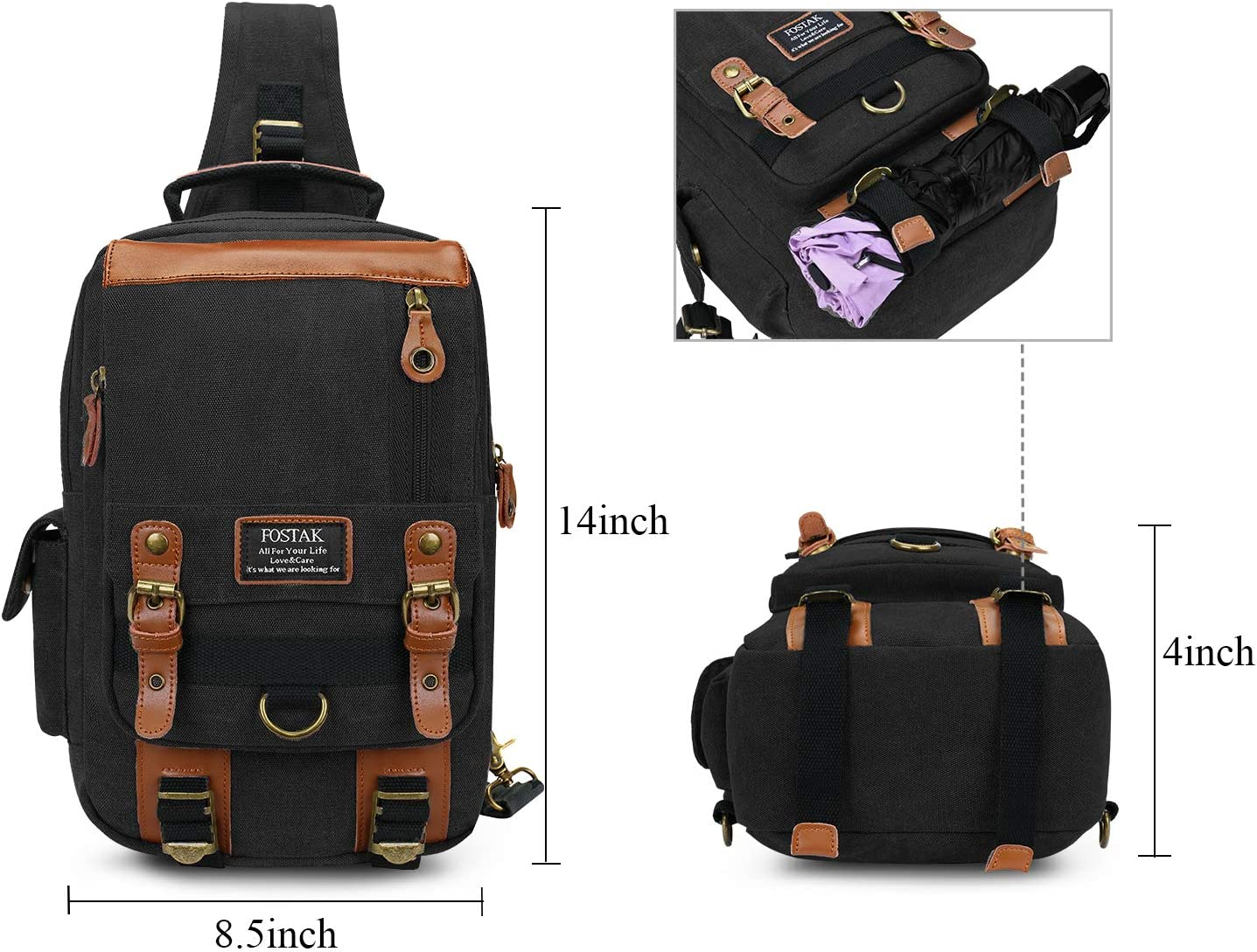 3 Piece Set Details about  /Backpack With Messenger Bag And A Wallet