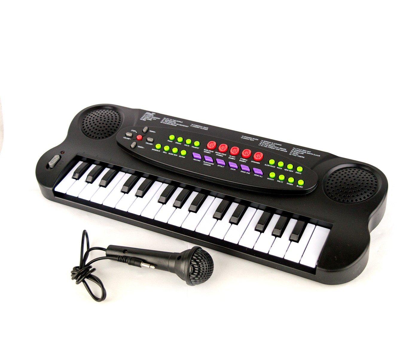 101045 Teclado electrónico de juguete con micrófono 32 teclas y muchas melodías: Amazon.es: Juguetes y juegos