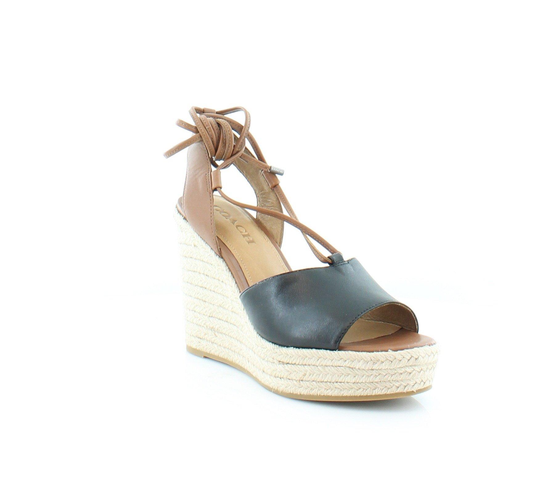 Coach Dana Women's Heels Black/Saddle Size 8 M