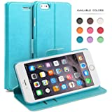 iPhone 6 Flip Case, iPhone 6s Flip Case, TheBlingZ® PU Leather Slim Flip Wallet Case Cover for iPhone 6 6s - Blue