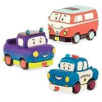 B. toys by Battat BX1909Z Mini Pull-Back Vehicles Set, Multi, 3Pc Truck, Camper...