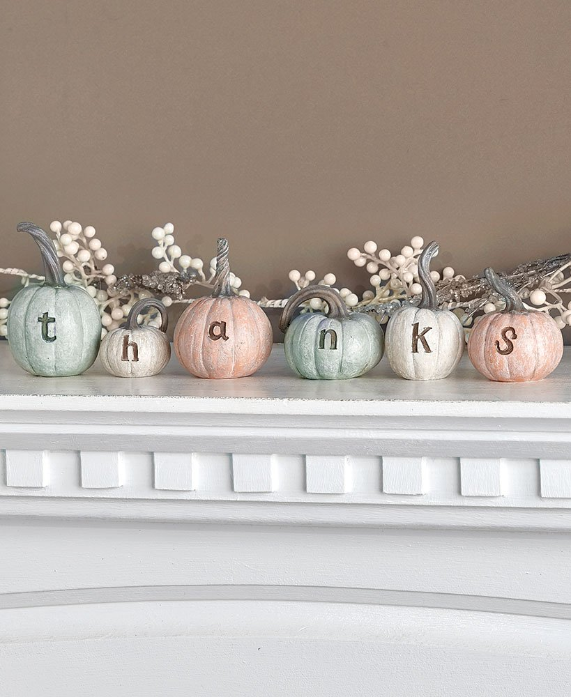The Lakeside Collection 6-Pc. Thanks Pumpkin Set