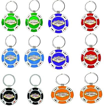 Llavero Las Vegas Casino Poker Chip Llavero Cadenas - Pack ...