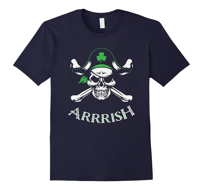 Arrish Irish Pirate St Patricks Day Shirt-TH
