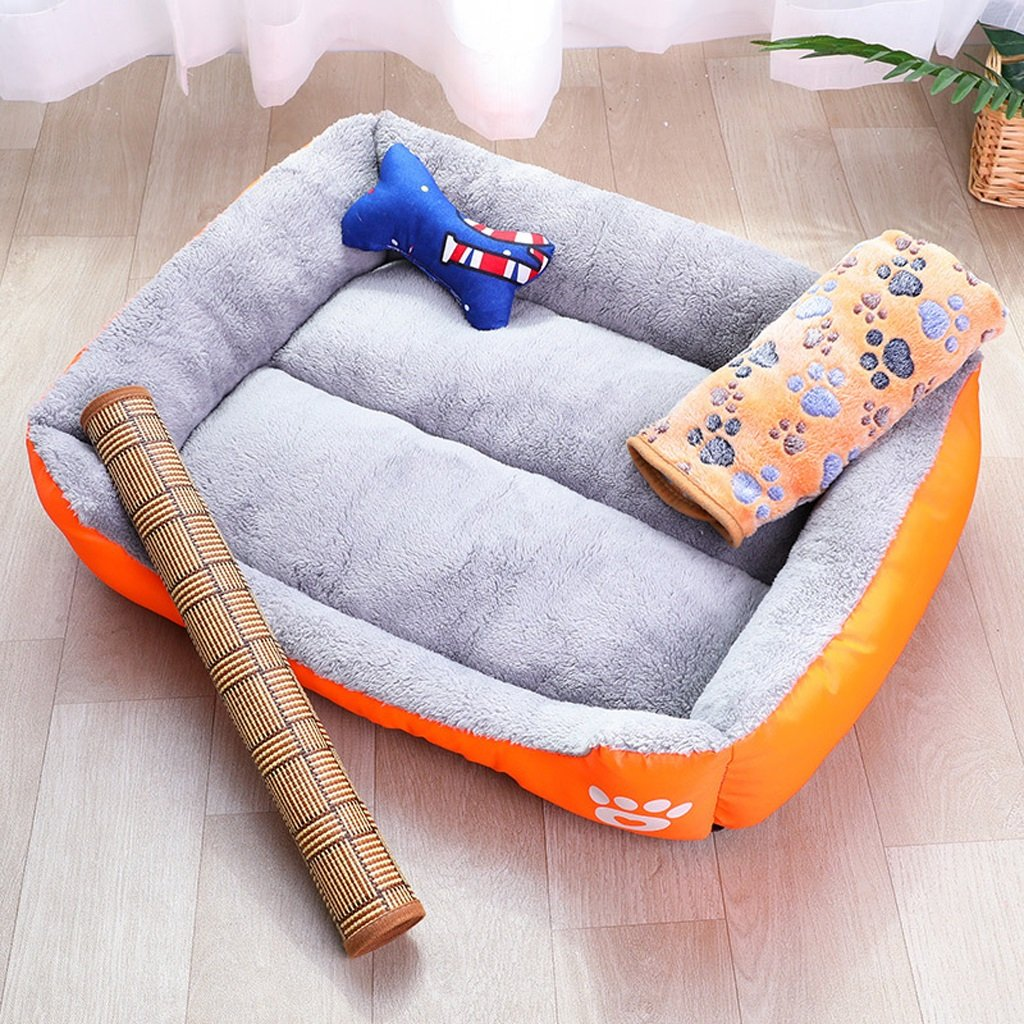 A Xl.80x65x17cm A Xl.80x65x17cm Pet Bed Pet Nest Dog's Nest Fully Washable Four Seasons Universal Candy-colord Teddy Pet Woofer Small and Medium Dogs Dog Beds golden Retriever Dog Dog Nest (color   A, Size   XL.80x65x17cm)