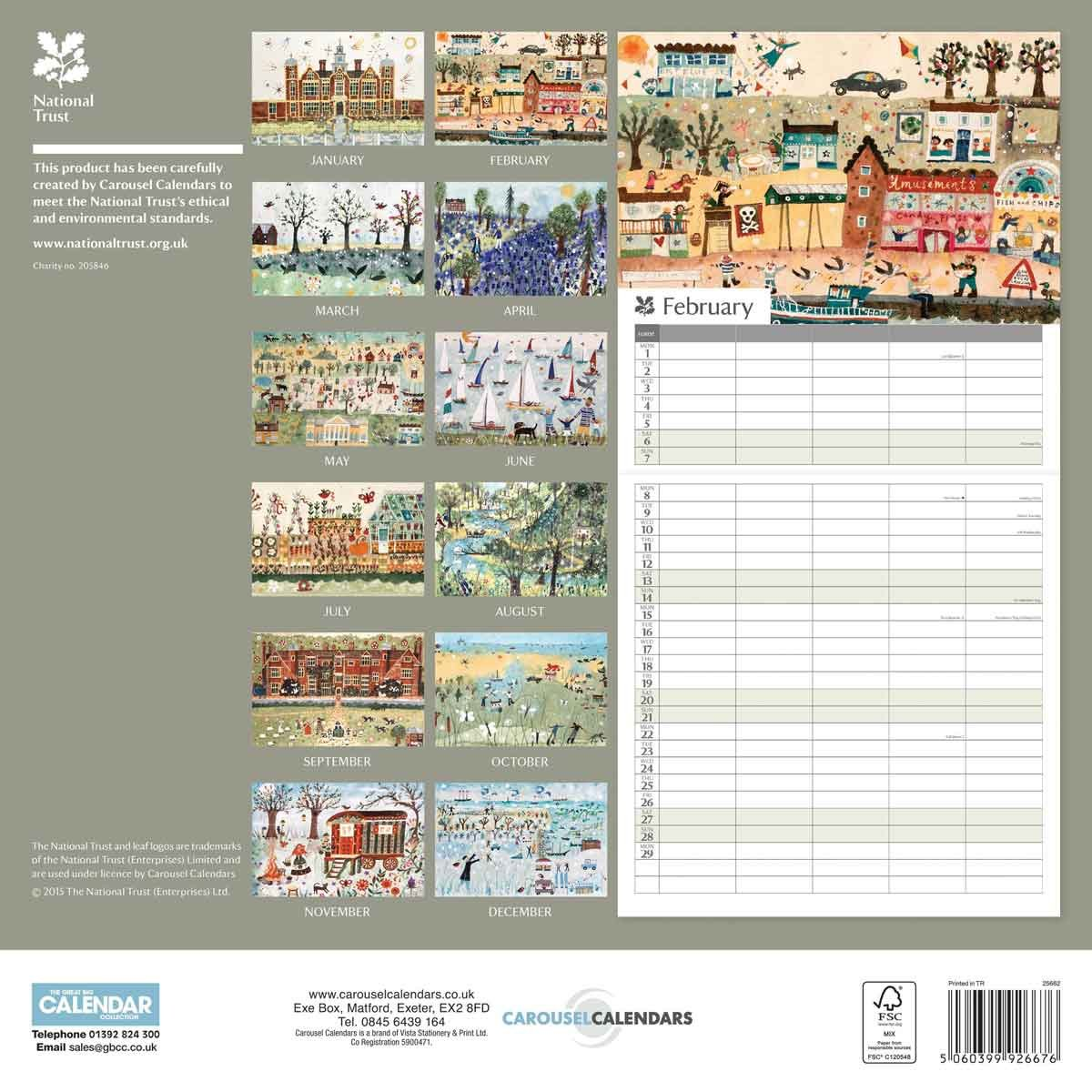 national trust family planner 2016 amazon co uk office products