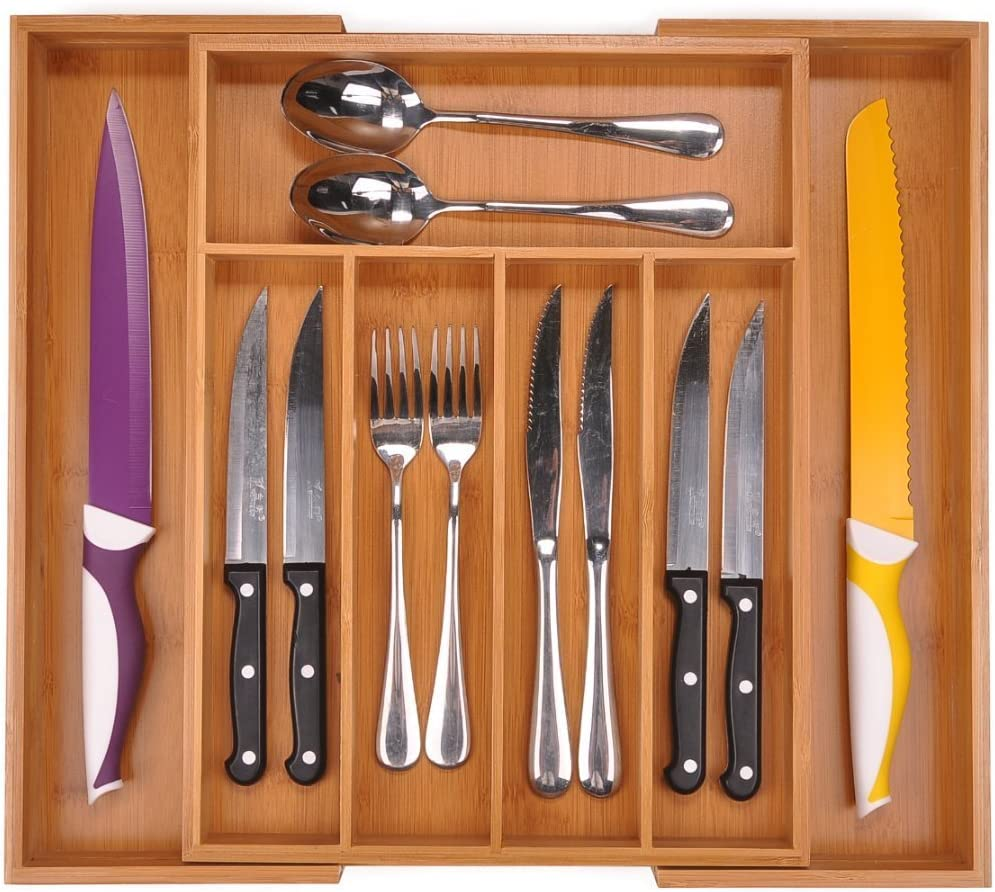 Better Homes and Gardens Bamboo Expandable Cutlery Tray