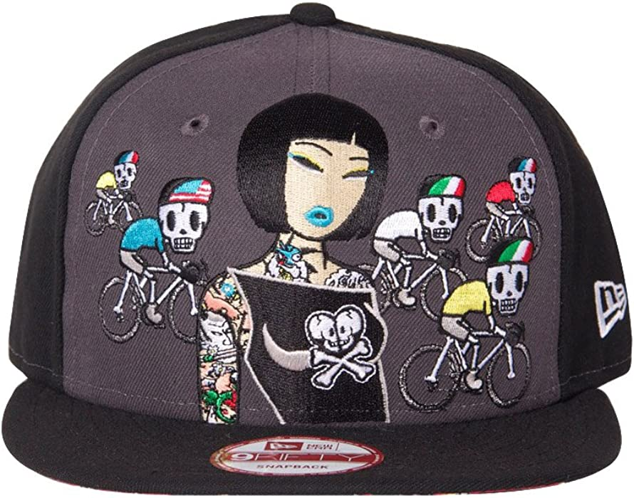 f85fef25315 100% Authentic Toki Doki New Era X Tokidoki   Fast Lane   Rare Printed  Under Visor Snapback Hat Cap ... at Amazon Men s Clothing store