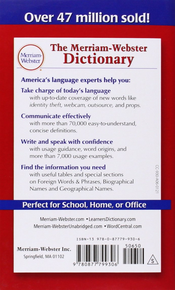 Buy The Merriam-Webster Dictionary Book Online at Low Prices in India | The  Merriam-Webster Dictionary Reviews & Ratings - Amazon.in