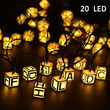 Amazoncom Vmanoo Solar String Lights Ft LED Modes - String lights for kids bedroom