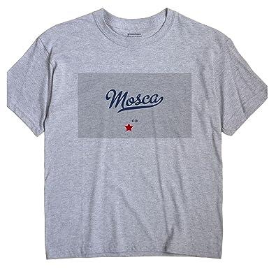 Mosca Colorado Map.Amazon Com Greatcitees Mosca Colorado Co Map Unisex Souvenir T