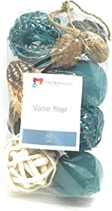 Interiors by design Decorative Vase and Bowl Filler for Your Home Decor (Turquoise Blue)