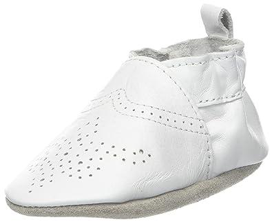 Robeez Unisex Baby Chic & Smart Krabbelschuhe, Weiß (Blanc), 21/22 EU (12-18 M)