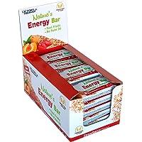 Victory Endurance Nature´s Energy Bar Fresa 60g, barrita energética con un 41% Frutas y 64% de hidratos de carbono, gran…