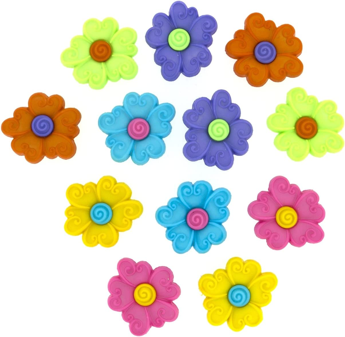 Dress It Up 2242Swirl Center Flower Novelty Embellishments