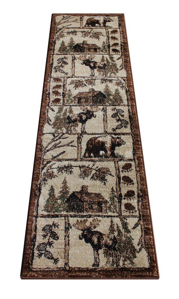 navy rugs fashion narrow premium for com rug runner amazon blue hallway mxol cream beige brown ac washable soft dp
