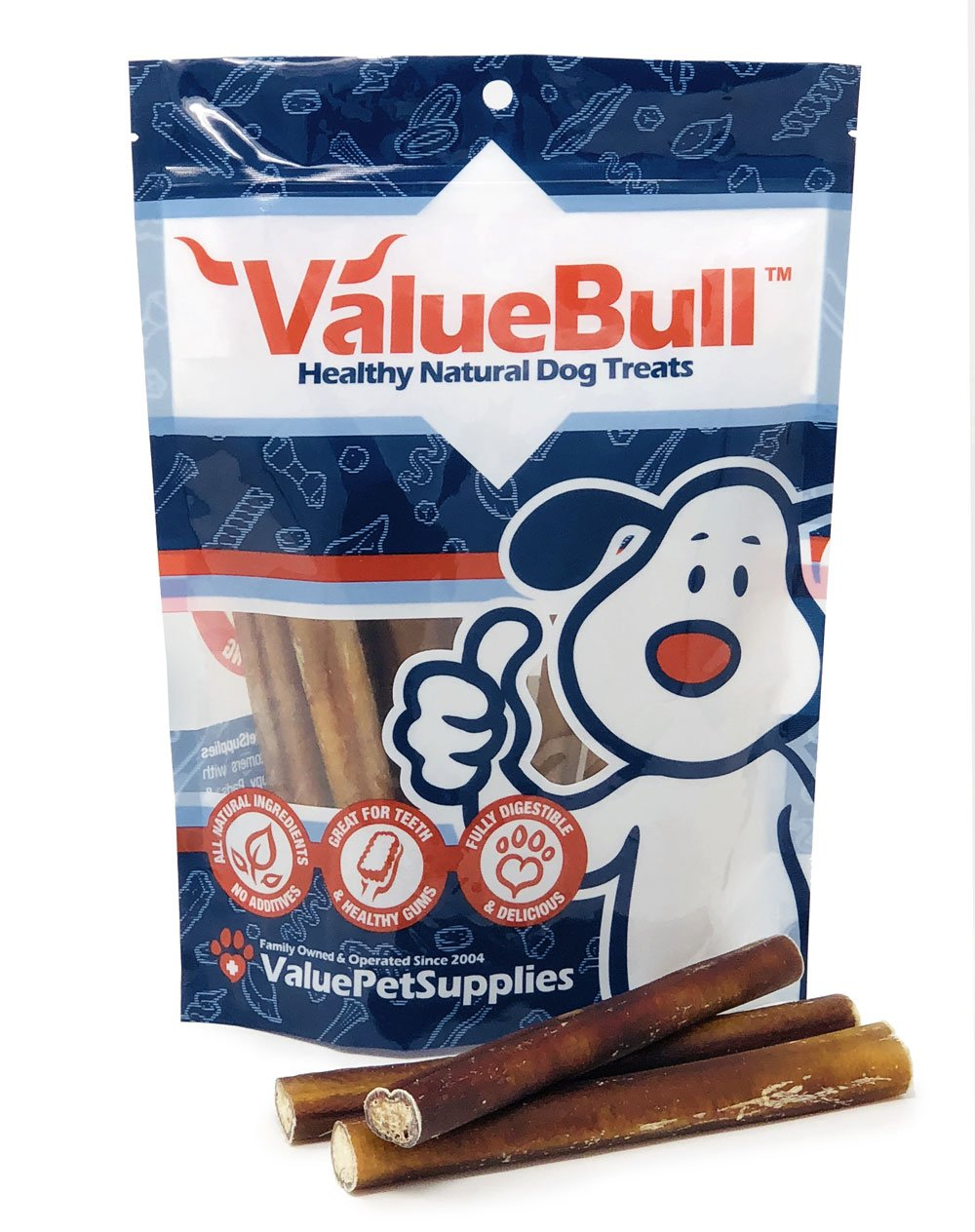 ValueBull Bully Sticks Dog Chews, 6 Inch Thick, All Natural, 50 Count by ValueBull (Image #3)