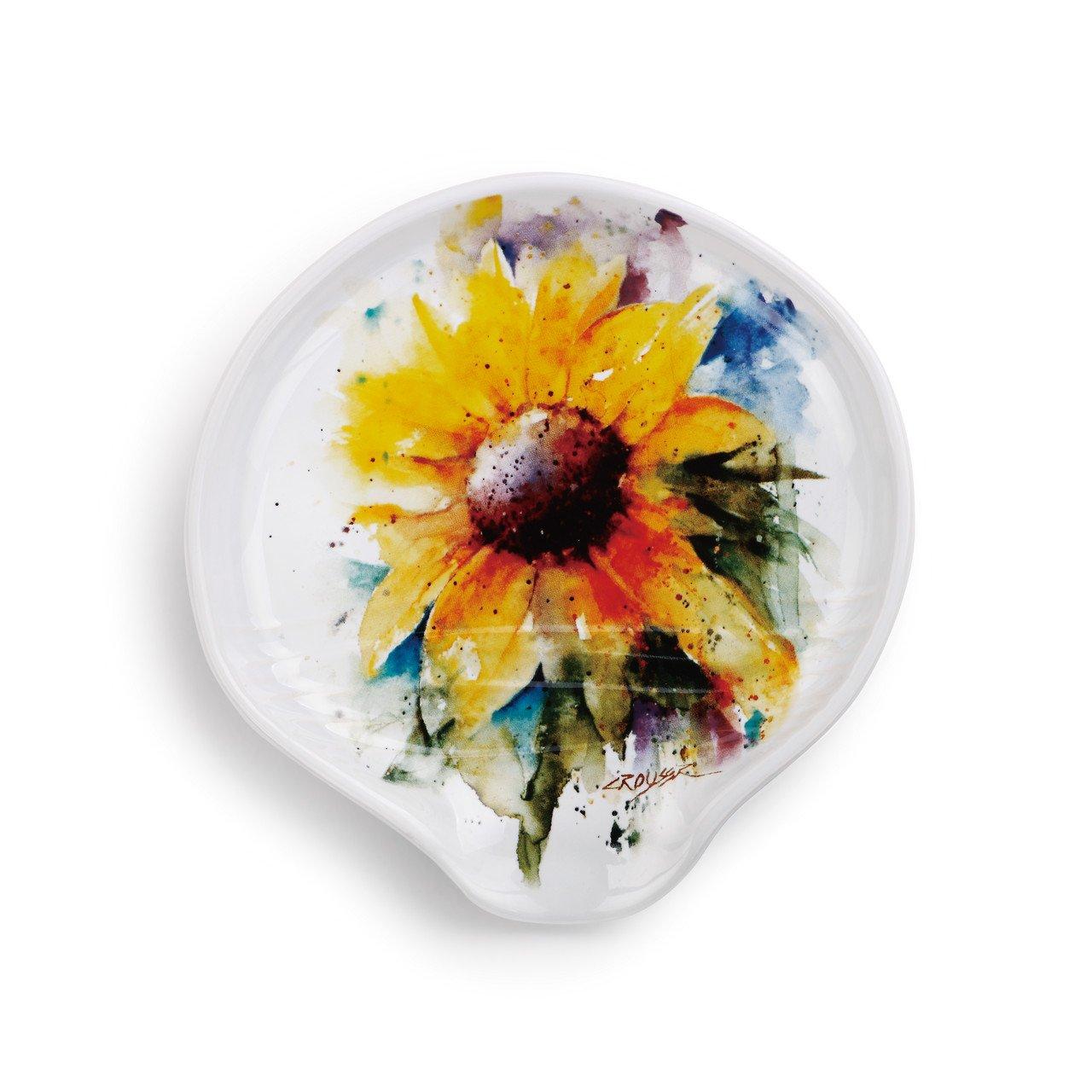Demdaco 3005051167 Big Sky Carvers Sunflower Spoon Rest, Multicolored by Demdaco (Image #1)