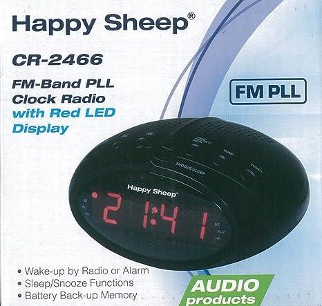 Radio Despertador Digital Happy Sheep CR-2466 Radio PLL/FM, Pantalla LED 220