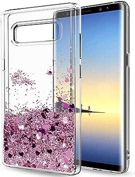 LeYi Funda Samsung Galaxy Note 8 Silicona Purpurina Carcasa con HD ...