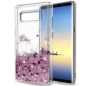 LeYi Funda Samsung Galaxy Note 8 Silicona Purpurina Carcasa con HD Protectores de Pantalla,Transparente Cristal Bumper Telefono Gel TPU Fundas Case ...