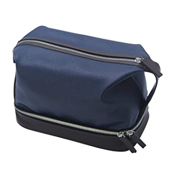d36c5f8da5f2 Amazon.com   Chomeiu Leather Toiletry Bag For Men