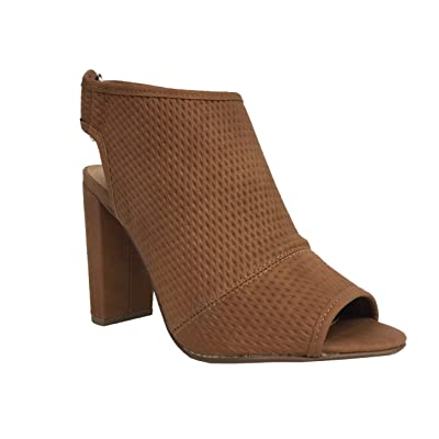 AFINA! Delicious Women's Modern Peep Toe Perforated Ankle Bootie