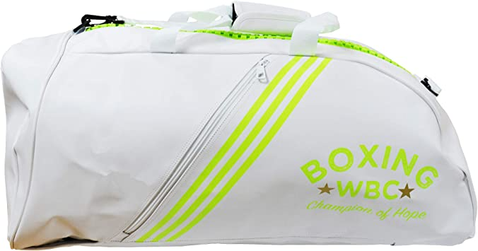 adidas PU 2 In 1 WBC Boxing Gym Training Sports Back Pack Holdall Bag Bolsa de Deporte para Boxeo, Blanco, Talla única: Amazon.es: Deportes y aire libre