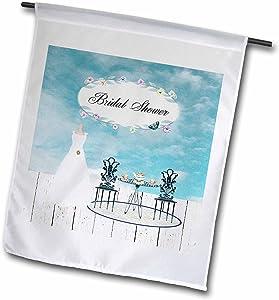 3dRose Wedding Dress Garden Tea Party, Bridal Party - Garden Flag, 12 by 18