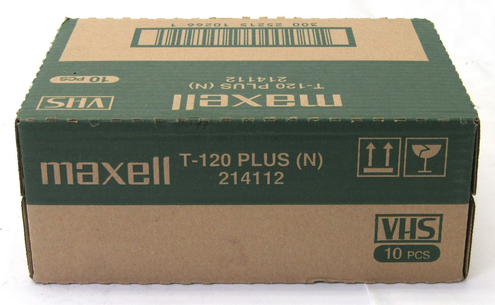 Maxell P/I Plus T-120 VHS, Pack of 10 by Maxell