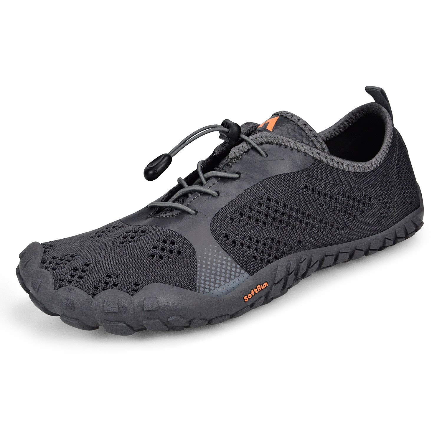 Troadlop Men's Barefoot Hiking Shoes Lightweight Breathable Mesh Trail Running Sneakers Grey6.5