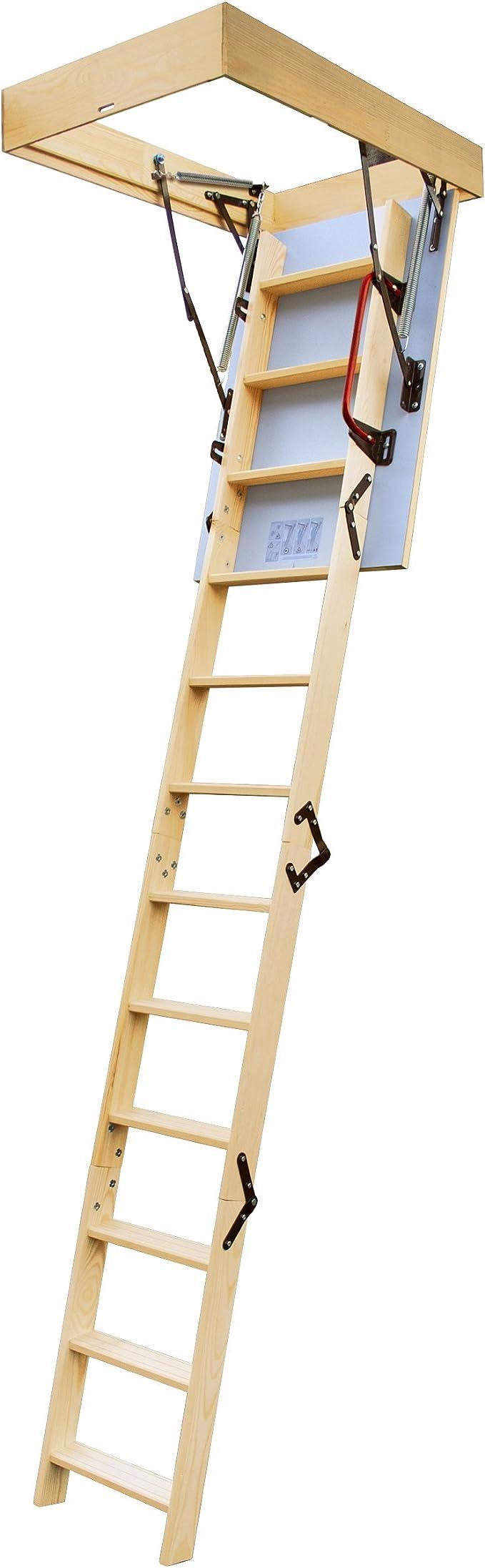 Lyte Easiloft - Escalera para buhardilla (4 secciones, compuerta aislada y barandilla, ensamblada): Amazon.es: Bricolaje y herramientas