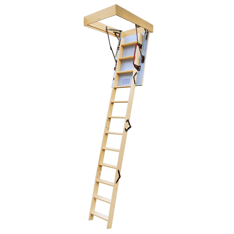lyte easiloft escalera para buhardilla secciones compuerta aislada y barandilla ensamblada amazones bricolaje y
