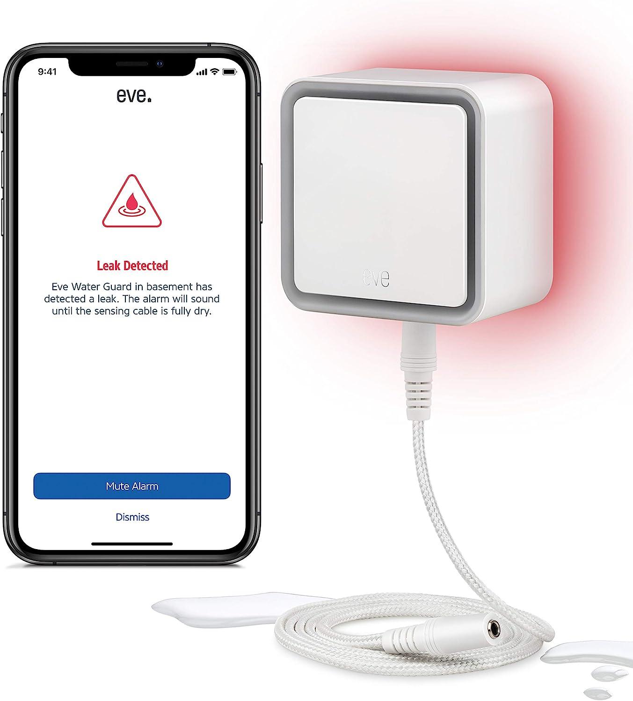 Eve Water Guard - Détecteur de Fuite d'eau connecté avec câble de...
