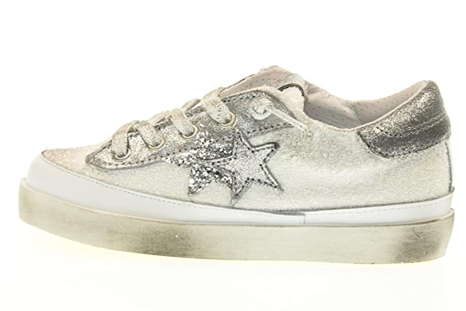 Zapatos mujer 2 STAR sneakers beige / Multicolor Textil AP695 (41 EU) vWA6vsfT