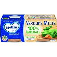 Mellin Omogeneizzato di Verdure Miste 100% Naturale – 24 Vasetti da 80 gr
