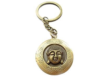 Bronce Buda Locket llavero, Budismo, Yoga llavero, Pacífico ...