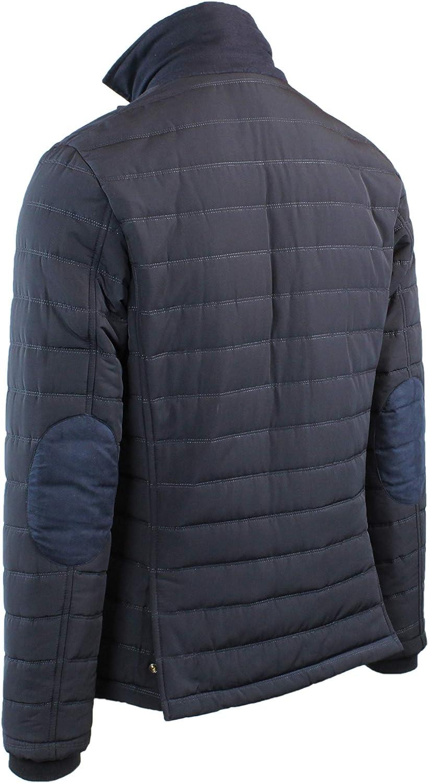 giacca a vento uomo con toppe ai gomiti