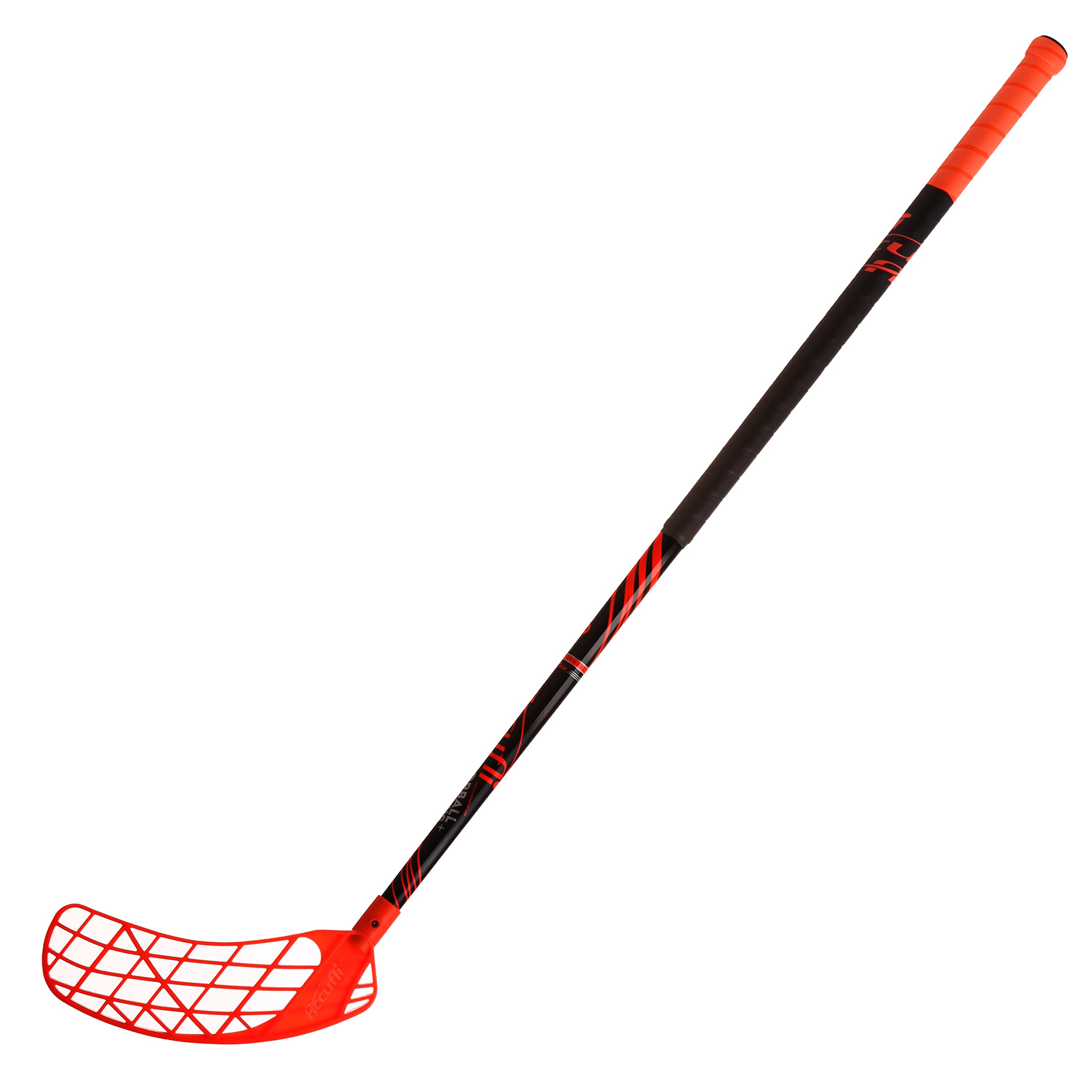 ACCUFLI Floorball Stick AirTek A90 Left 40inch Curved Blade (Orange)