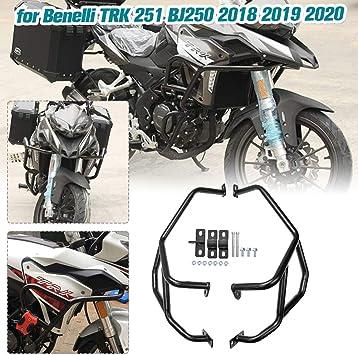 Lorababer Accessori moto Barra paracolpi superiore Protezione motore autostrada Paraurti Gabbia acrobatica Protezione telaio per Benelli TRK 251 BJ250 TRK251 BJ 250 2018 2019 2020 18 19 20 superiore