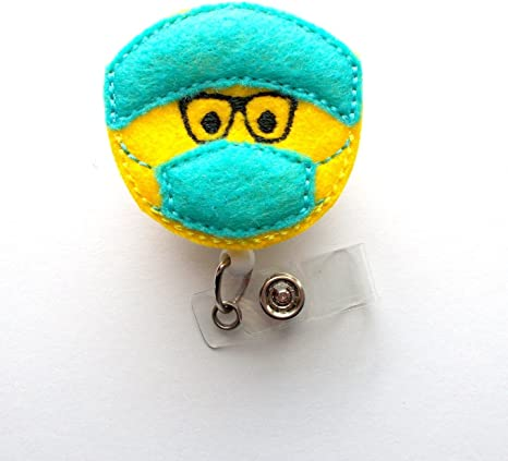 Surgical Tech with Glasses - Badge Reel - Surgical Technician Badge -  Surgical Tech Badge - Md Badge Reel - Or Badge Reel - Male Nurse Badge - ...