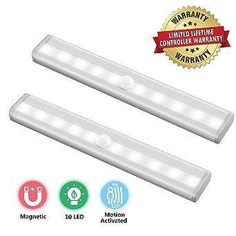 10 LED magnético Movimiento Sensor Luces Nocturnas Luz de la noche Detección automática con detector de