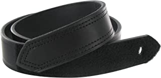 product image for Boston Leather 1.5in. Hook And Loop Tipped Leather Belt 38 Black