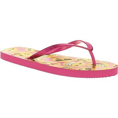 Emoji Women/Teens Colorful Flip Flops Sandals Rubber Thongs. Size XL (11).
